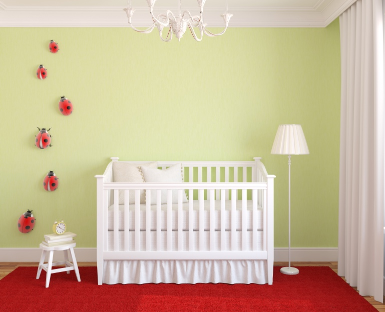 Interior of nursery.